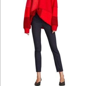 Zara blue elastic waist trouser. NWOT